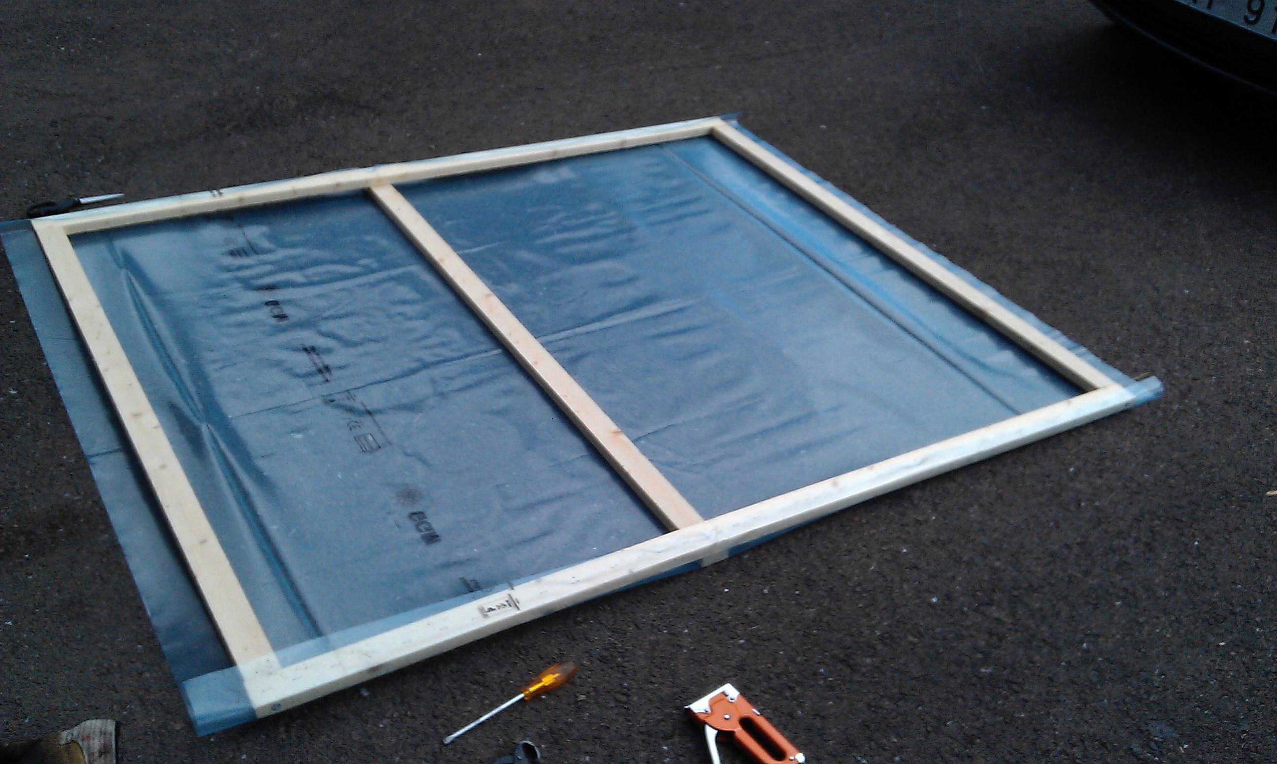 Bygga fönsterparaply